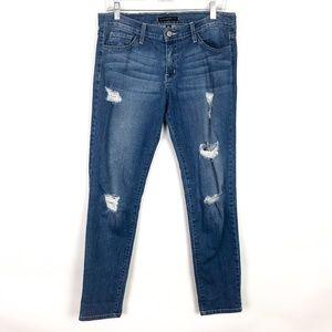 Flying Monkey Platinum Distressed Skinny Jeans